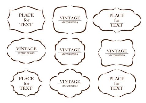 Vintage classic frame 4