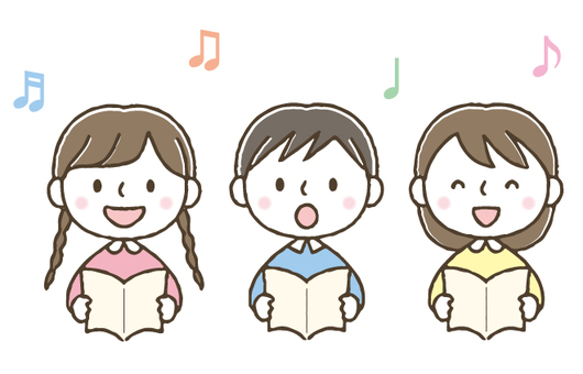 Cute kids singing songs / Hand-painted