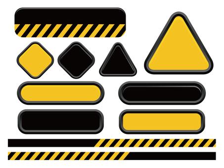 Caution Dangerous system frame set