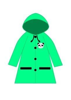 Green raincoat