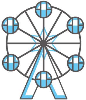 Blue Ferris wheel icon