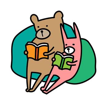 독서 곰 토끼 독서 주간이 동물