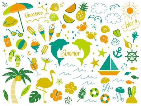夏のゆるっと飾りセット03