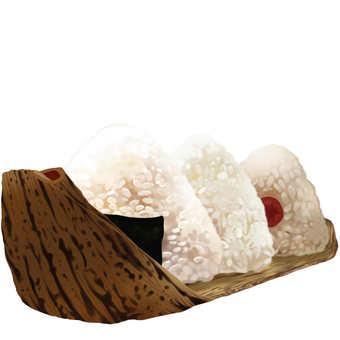 Rice balls 3 + bamboo peel