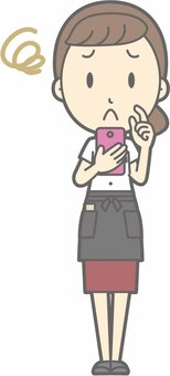 Waitress a - Smartphones troubled - whole body