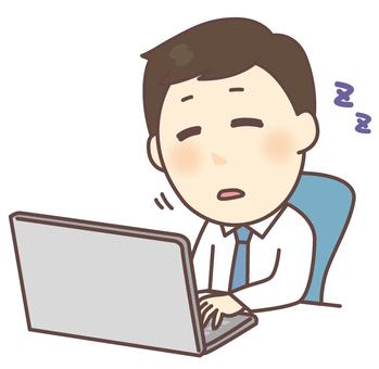 직장인 남성 낮잠