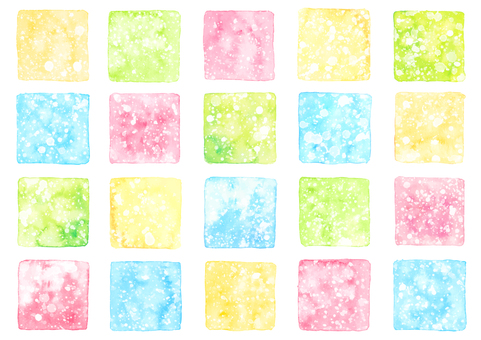 Watercolor material 10 summer color