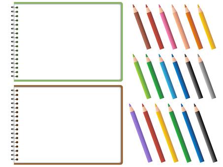 60825. 스케치북, 색연필 2
