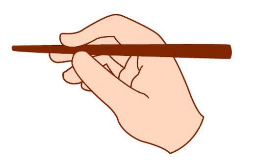 How to hold chopsticks 1