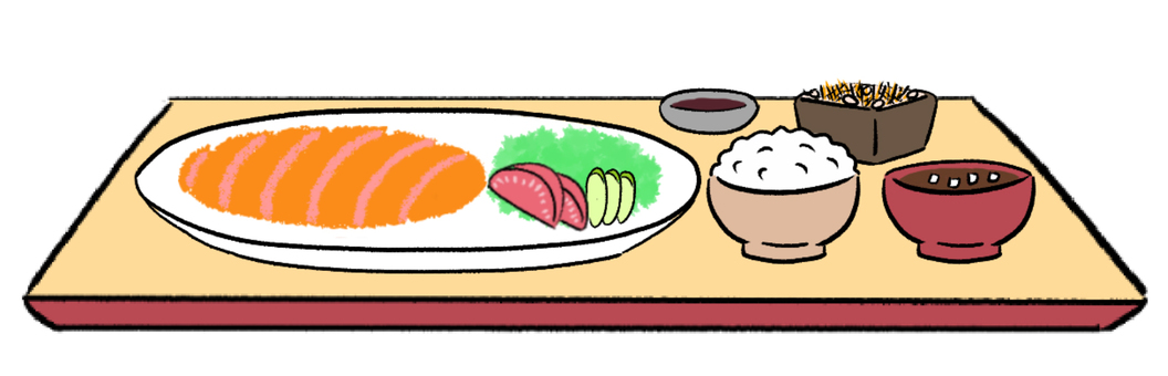Tonkatsu set meal