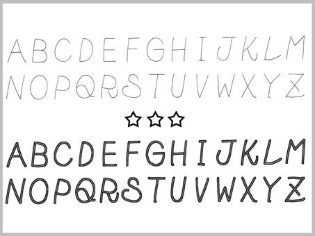 Handwritten characters (alphabet)