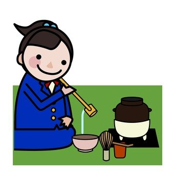 One day of middle school and high school student - Tea ceremony department