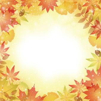Autumn leaves fallen leaves frame