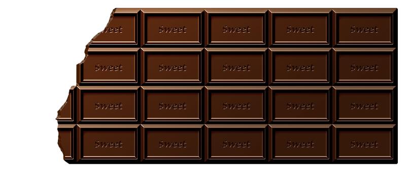 깨진 초콜릿