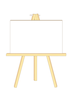 Canvas & easel (front)