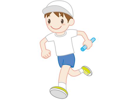 Sports festival relay men