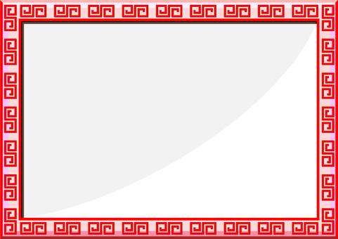 手工鑲嵌的中國框架