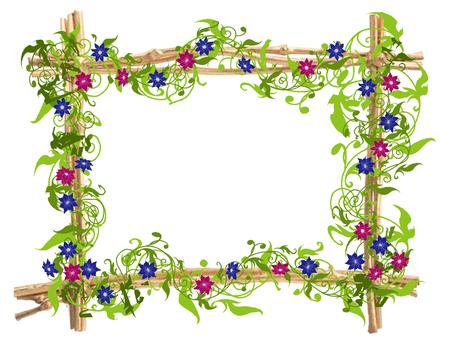 Flower design frame