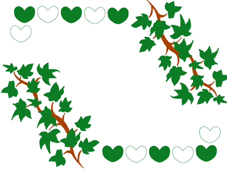 Ivy and heart frame