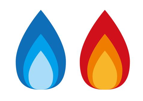 煤氣火/藍色火焰