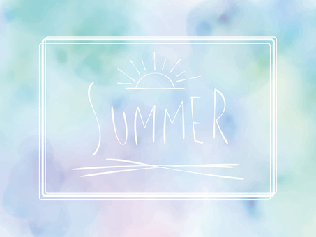 Summer color frame ver04
