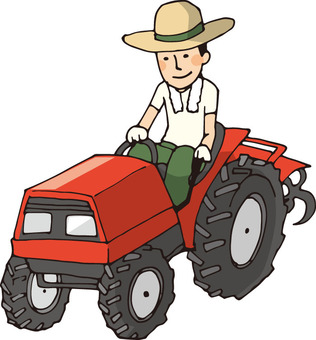 Agriculture (tractor and person)