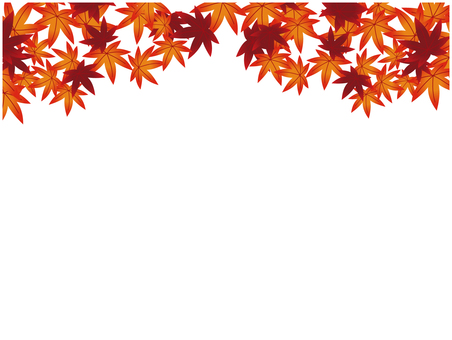 Japanese pattern material Autumn leaves