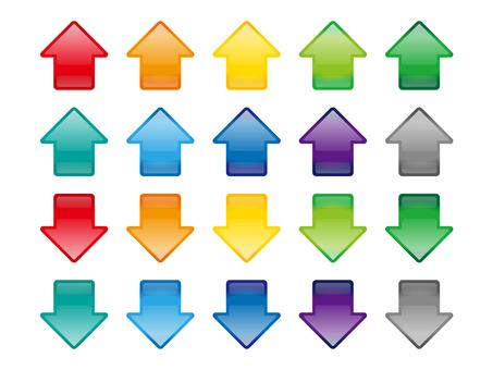 Botón bandera marco de flecha