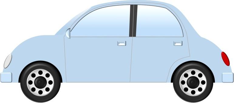 자동차 (하늘색)