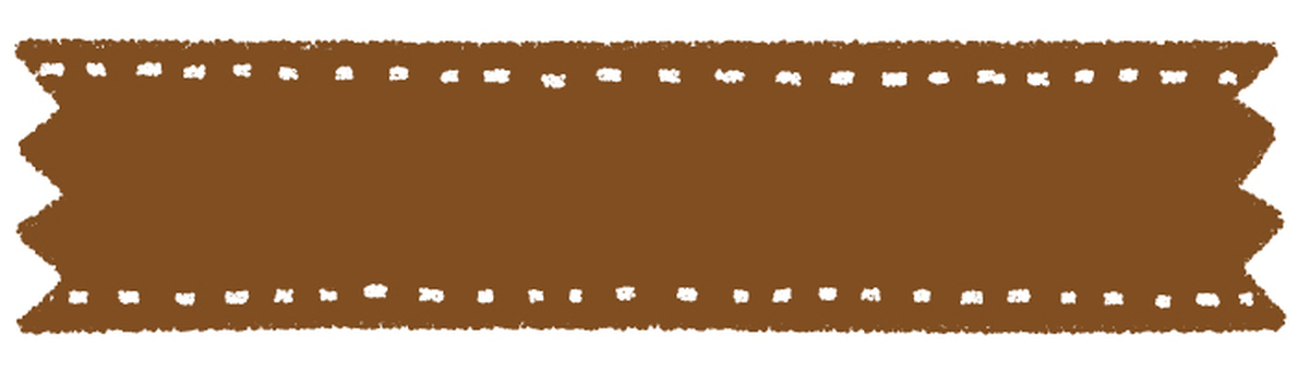 Hand drawn tape _ brown