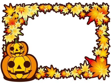 Halloween autumn frame