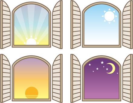 창문 프레임 하루
