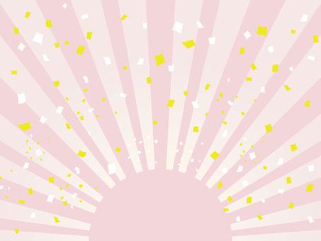 Sunrise and confetti of pastel