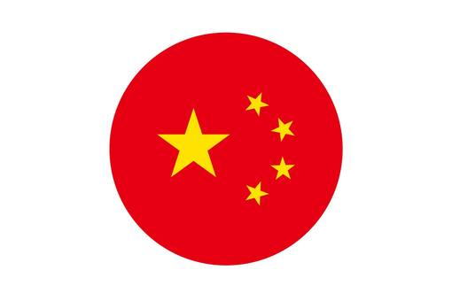 Chinese flag circle icon