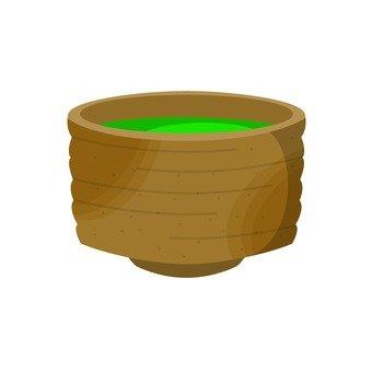 Tea cup with green tea