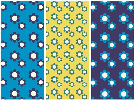 귀여운 꽃 패턴 소재 세트 B