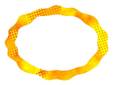 Frame frame color round pattern
