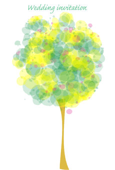 "Wedding invitation ""Happy tree"""