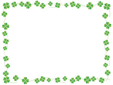 Four-leaf clover decorative frame