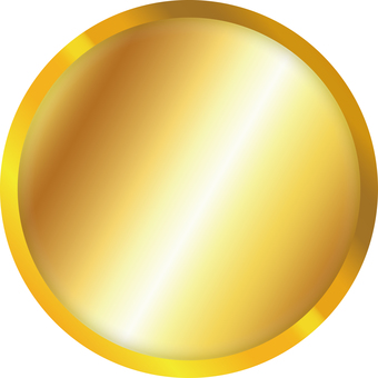 Simple gold coin front