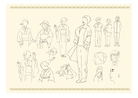 Ballpoint pen drawing_people