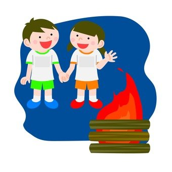 Campfire and kindergarten