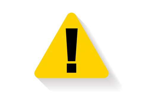 注意喚起警告三角形ビックリマーク白背景