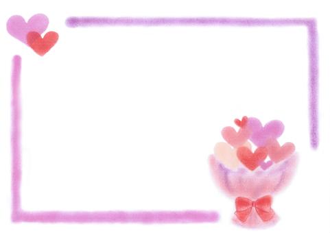 Heart bouquet frame