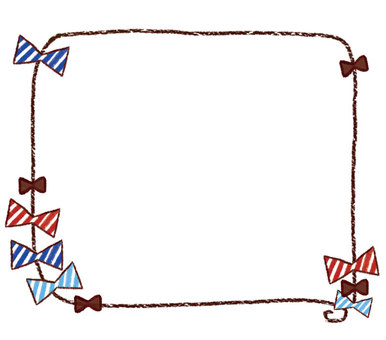 Hand-painted ribbon frame 1-1