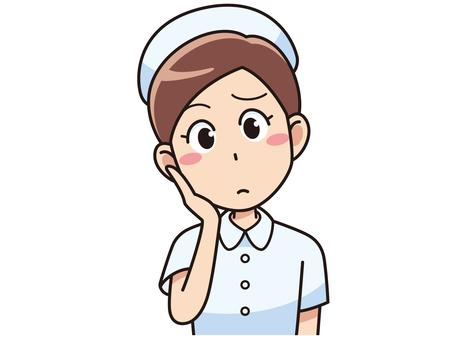 Thinking female nurse