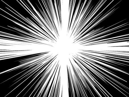 Comic style 11 white through the PNG