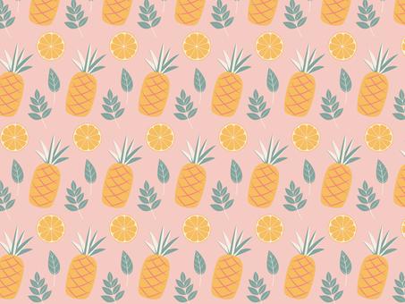 ピンクフルーツパターン