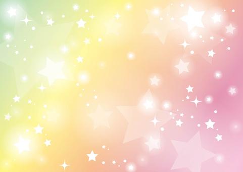 Màu cầu vồng đầy bầu trời đầy sao 04
