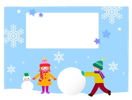 Frames of children playing in the snow